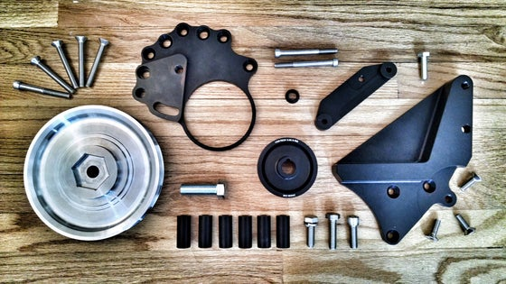 Image of e9 MK4 VR6 Supercharger Bracket & Pulley Set