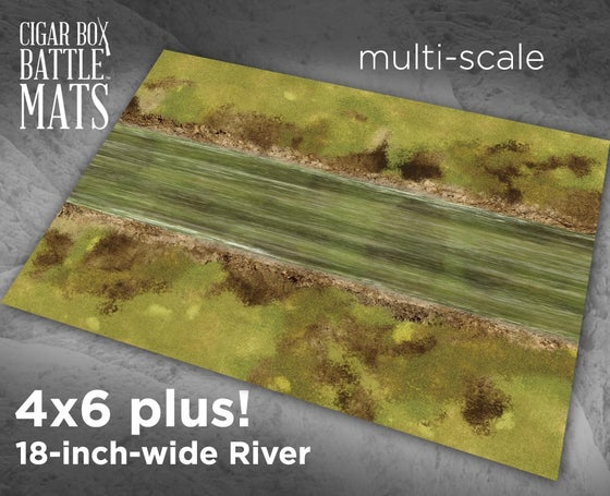 Image of 18 inch wide River -- 4x6 plus -- #232