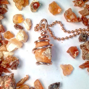 Image of Copper Wrapped Mexican Fire Opals
