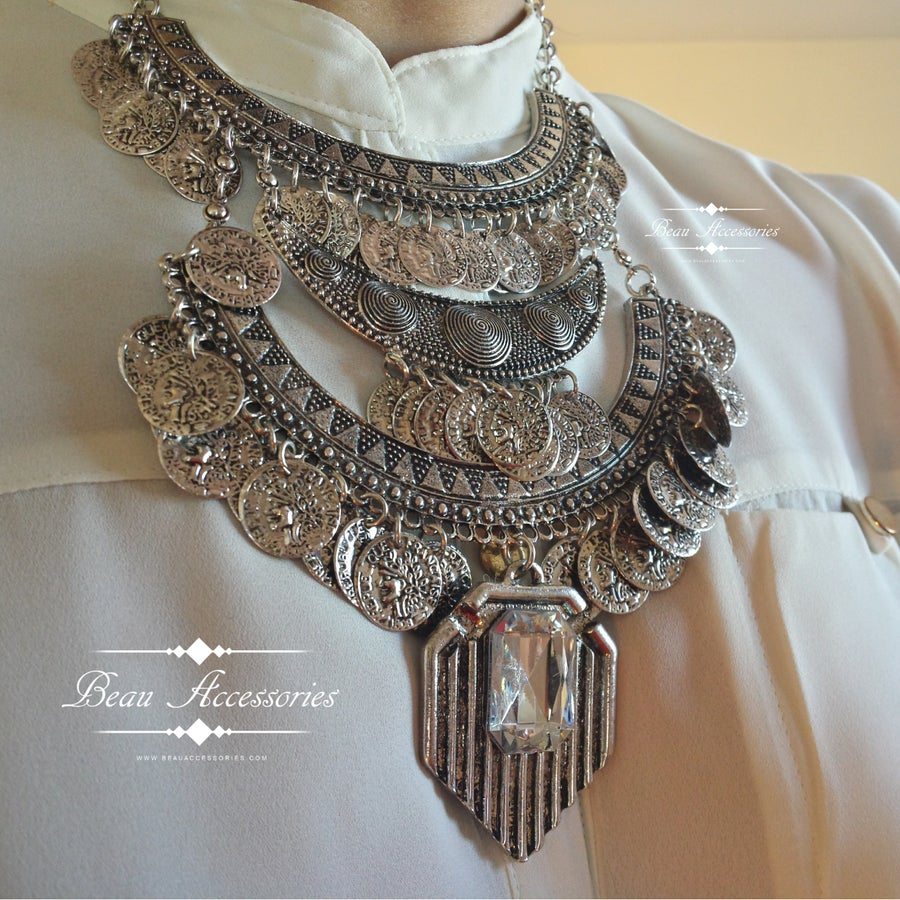 Image of Silver Boho Coin Necklace