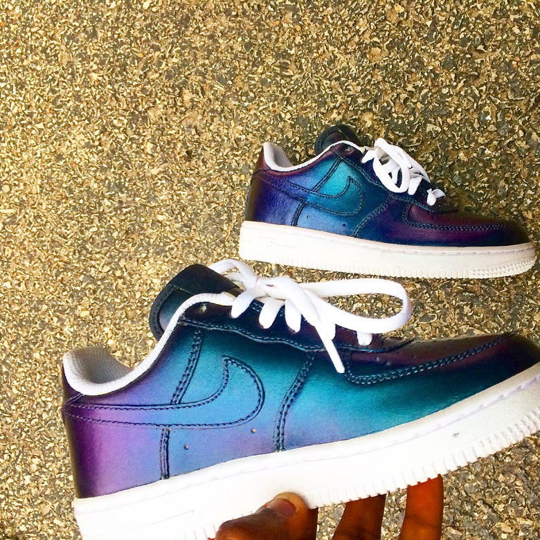 Image of Color shift Air Force ones