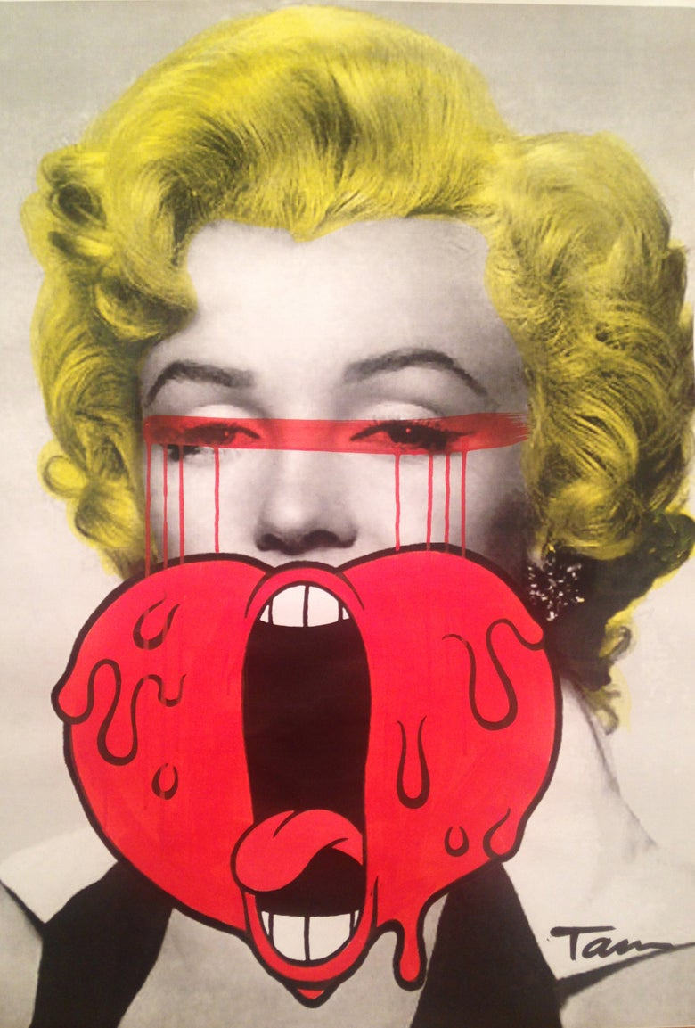 "Image of ""Screaming Heart Marilyn"""