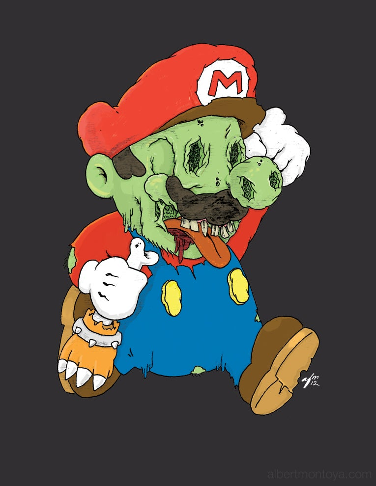 "Image of Print ""Zombie Mario"""