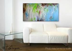 Image of 'Matin pluie' - 60x120cm