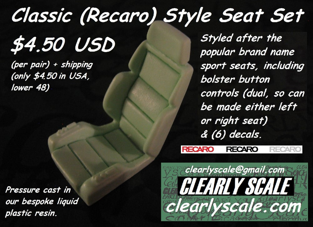 Image of Classic (Recaro) Seat Set with Decals