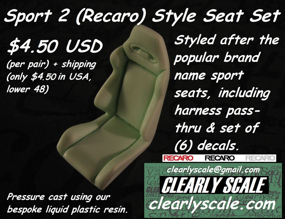 Image of Sport #2 (Recaro) Seat Set with Decals