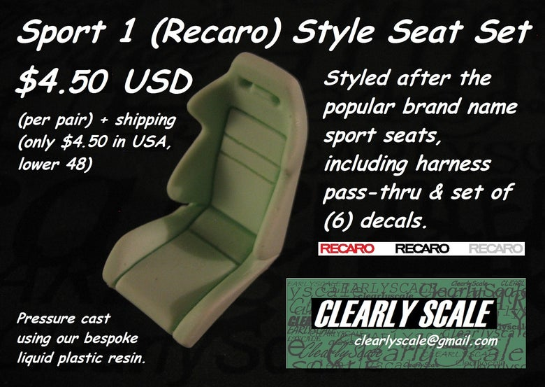 Image of Sport #1 (Recaro) Seat Set with Decals