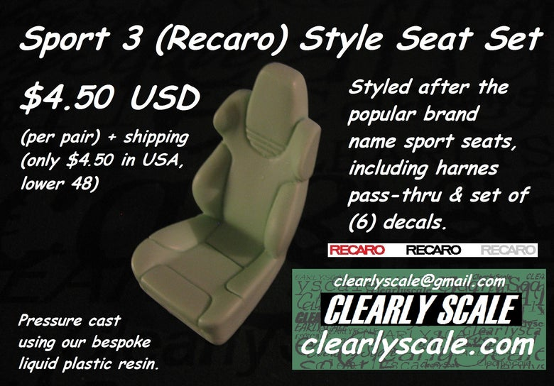 Image of Sport #3 (Recaro) Seat Set with Decals