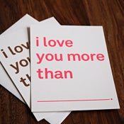Image of i love you more than cards sets of 6
