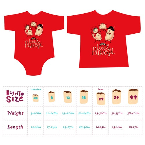 Image of Our Lil' Pierogi! Toddler Tee/Baby Bodysuit
