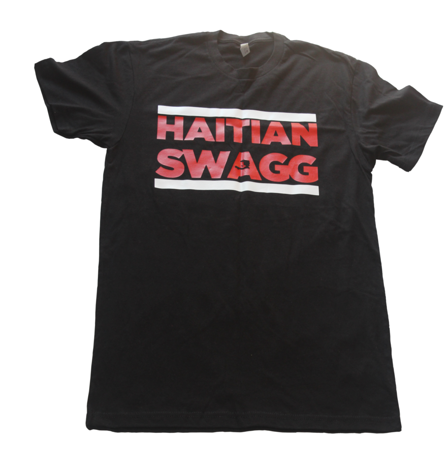 Image of Haitian Swagg red/white black tee
