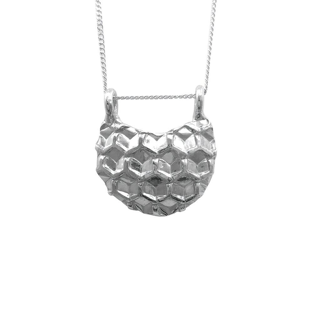 Image of Honeycomb Necklace Moon