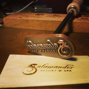 Image of Flame heated branding iron- Standard use.