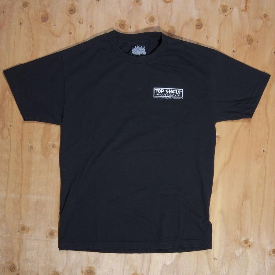 Image of Top Shelf Customs Badge Logo T-Shirt