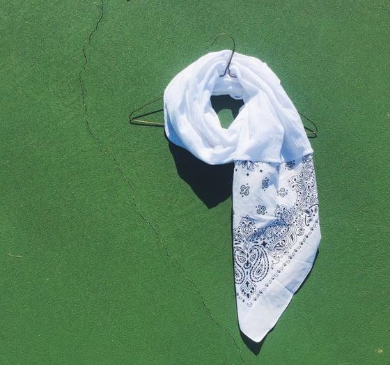 Image of W h I t e Bandana scarf