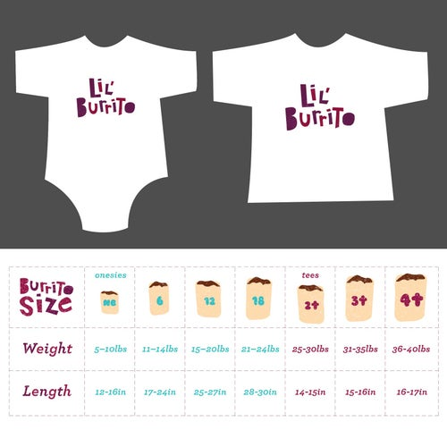 Image of Lil' Burrito! Toddler Tee/ Baby Bodysuit