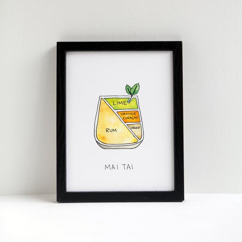 Image of Mai Tai Cocktail Print