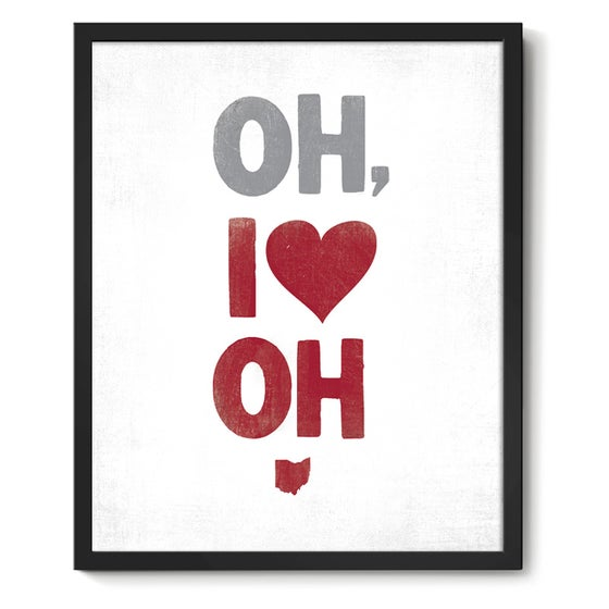 Image of Oh, I Heart OH Art Print