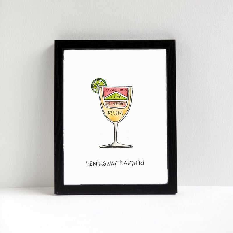 Image of Hemingway Daiquiri Cocktail Art Print