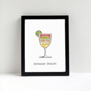 Hemingway Daiquiri Cocktail Art Print by Alyson Thomas of Drywell Art. Available at shop.drywellart.com