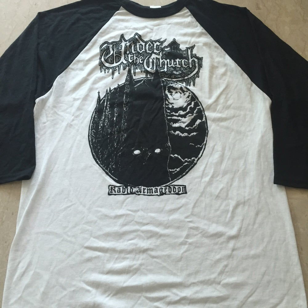 "Image of UNDER THE CHURCH ""Rabid Armageddon"" Raglan T-Shirt"