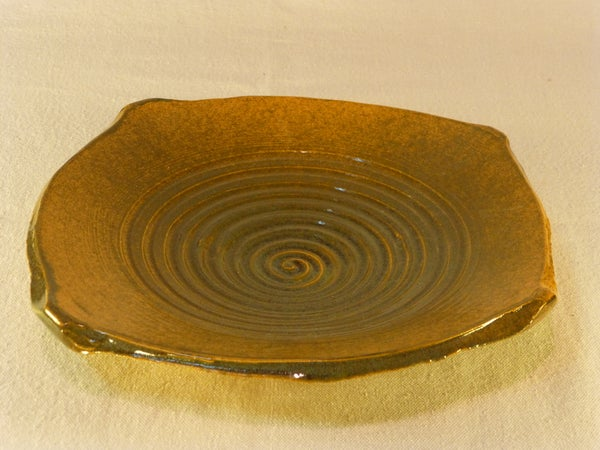 Image of Squared spiral bowl earth tone