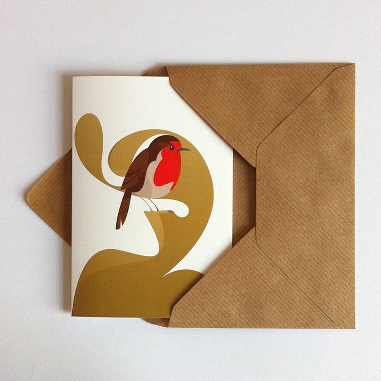 Image of Robin Greeting Card
