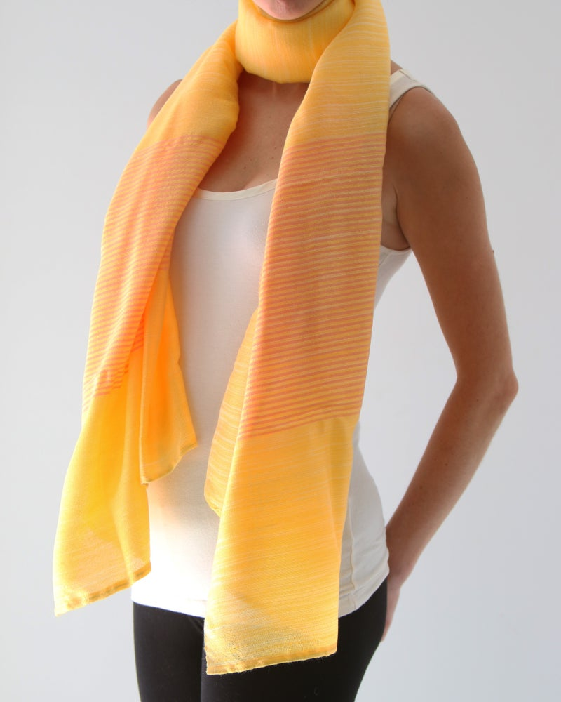 Image of Écharpe jaune d'automne #1/ Fall yellow scarf #1