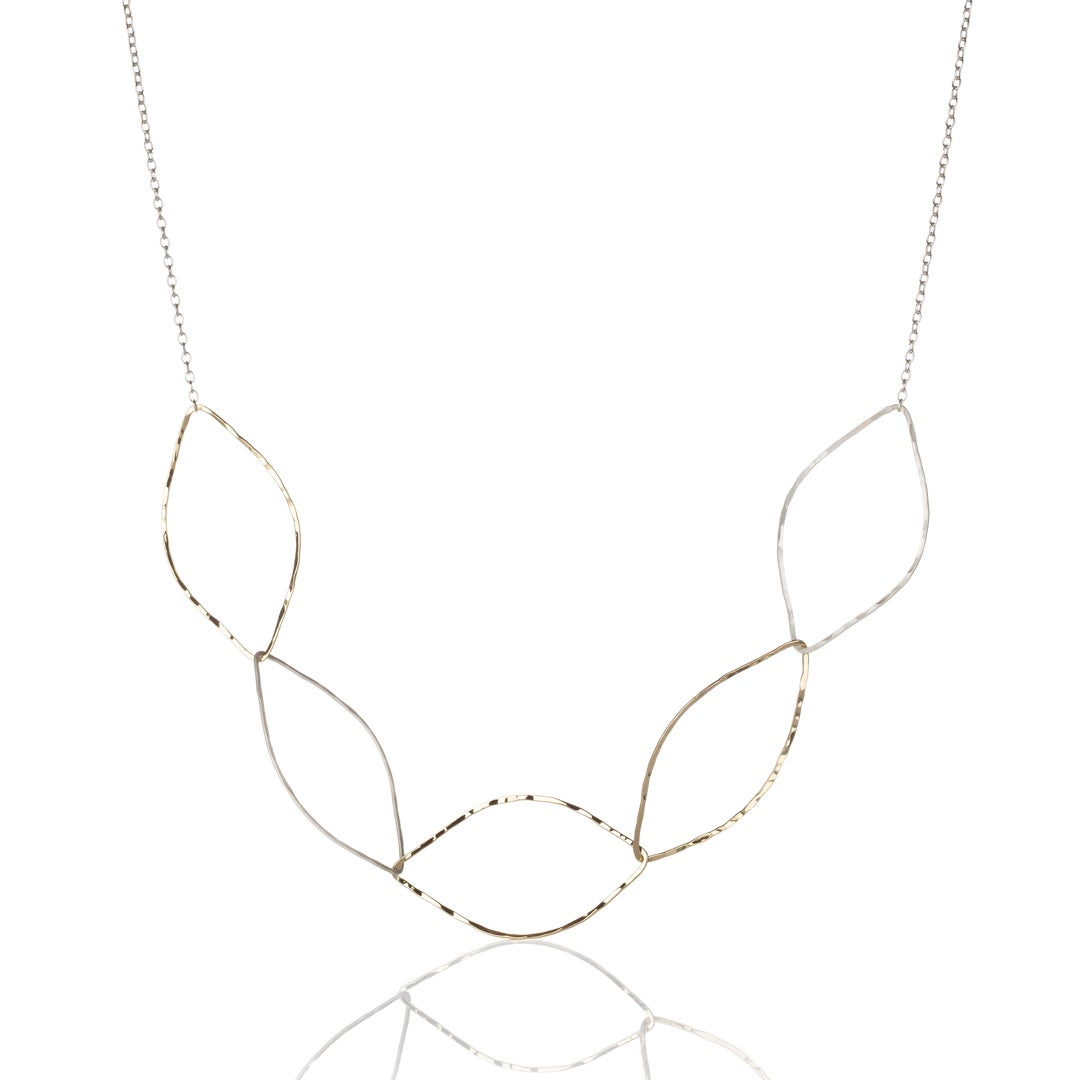 Image of Long Five Almond Necklace