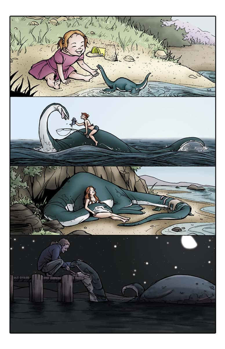 "Image of ""Girl & Sea Monster"" Print by Natalie Nourigat"