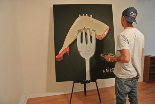 "Image of Dinner Date 48 x 60"" Original Painting"