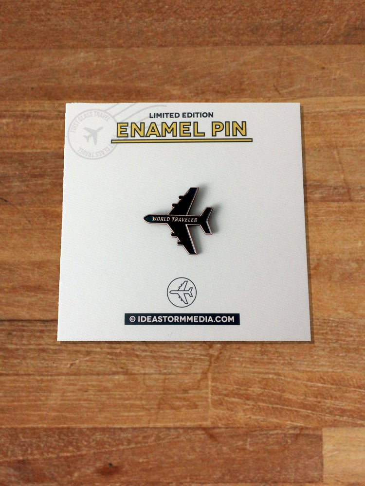 Image of World Traveler Plane Enamel Pin