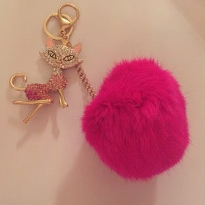 Image of Sexy Kitty - Fur Ball Bag Keychain