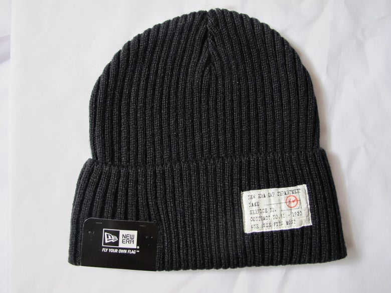 Image of FRAGMENT x NEW ERAMILITARY BEANIE (Black)