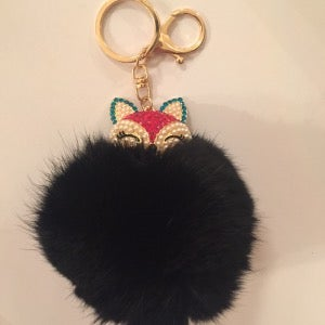 Image of So Foxy - Fur Ball Bag Keychain