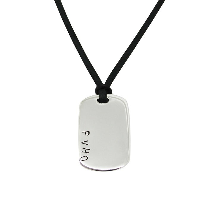 Personalised sterling silver dog tag pendant free shipping worldwide image of personalised sterling silver dog tag pendant aloadofball Images