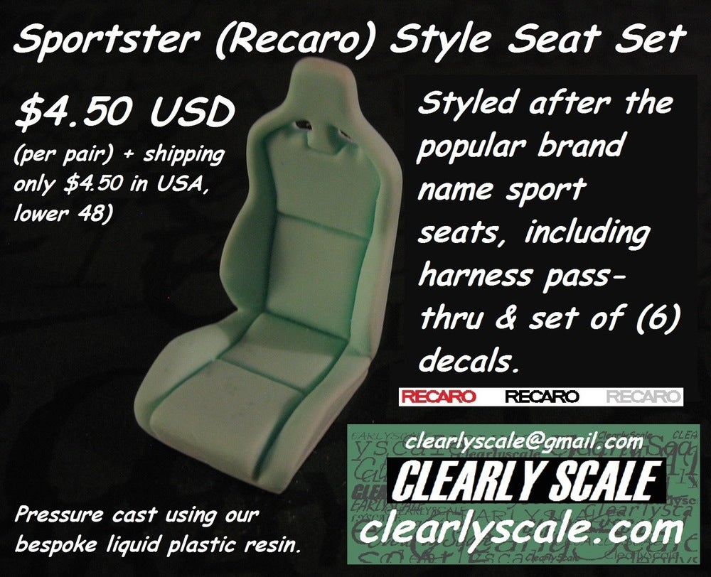 Image of Sportster (Recaro) Seat Set with Decals
