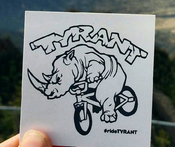 Image of TYRANT Ragin' Rhino Stickers
