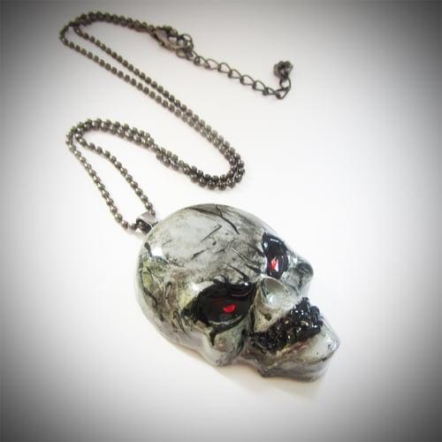 Image of Evil Gentleman Resin Skull Pendant
