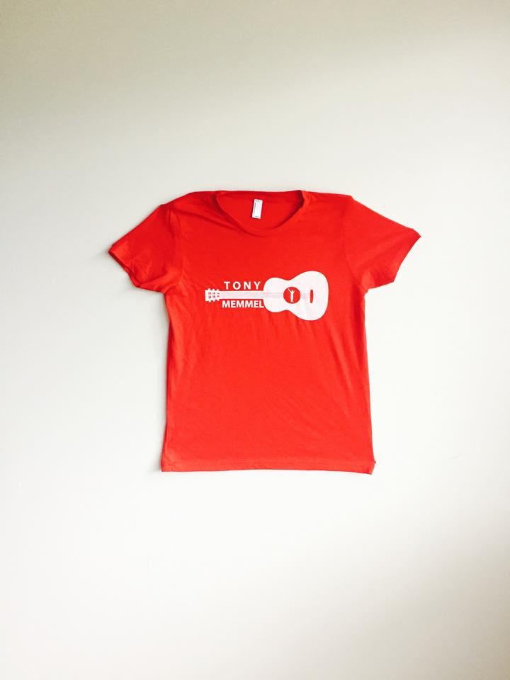 Image of Red - Tony Memmel Guitar T-Shirt (YOUTH Unisex)
