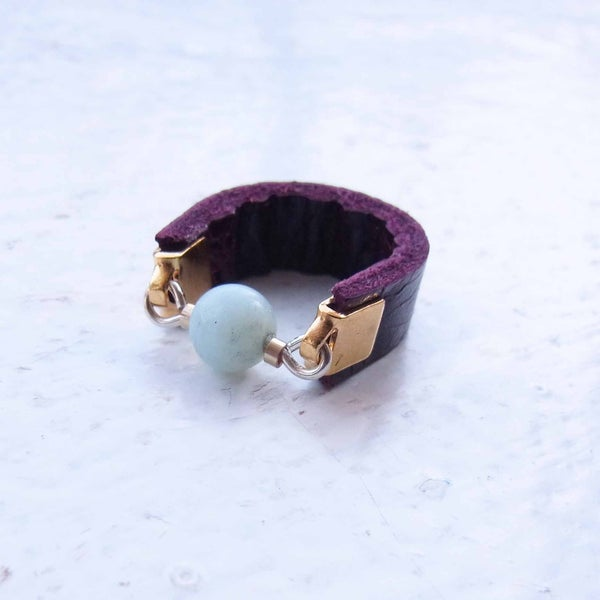 Image of Plum and Ice Dot ring