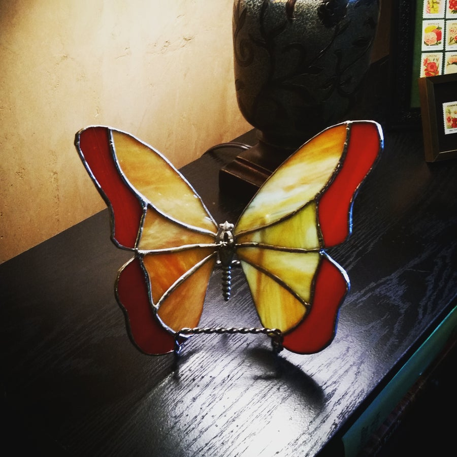 Image of Butterfly-stained glass