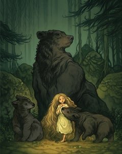 Image of Girl with bears