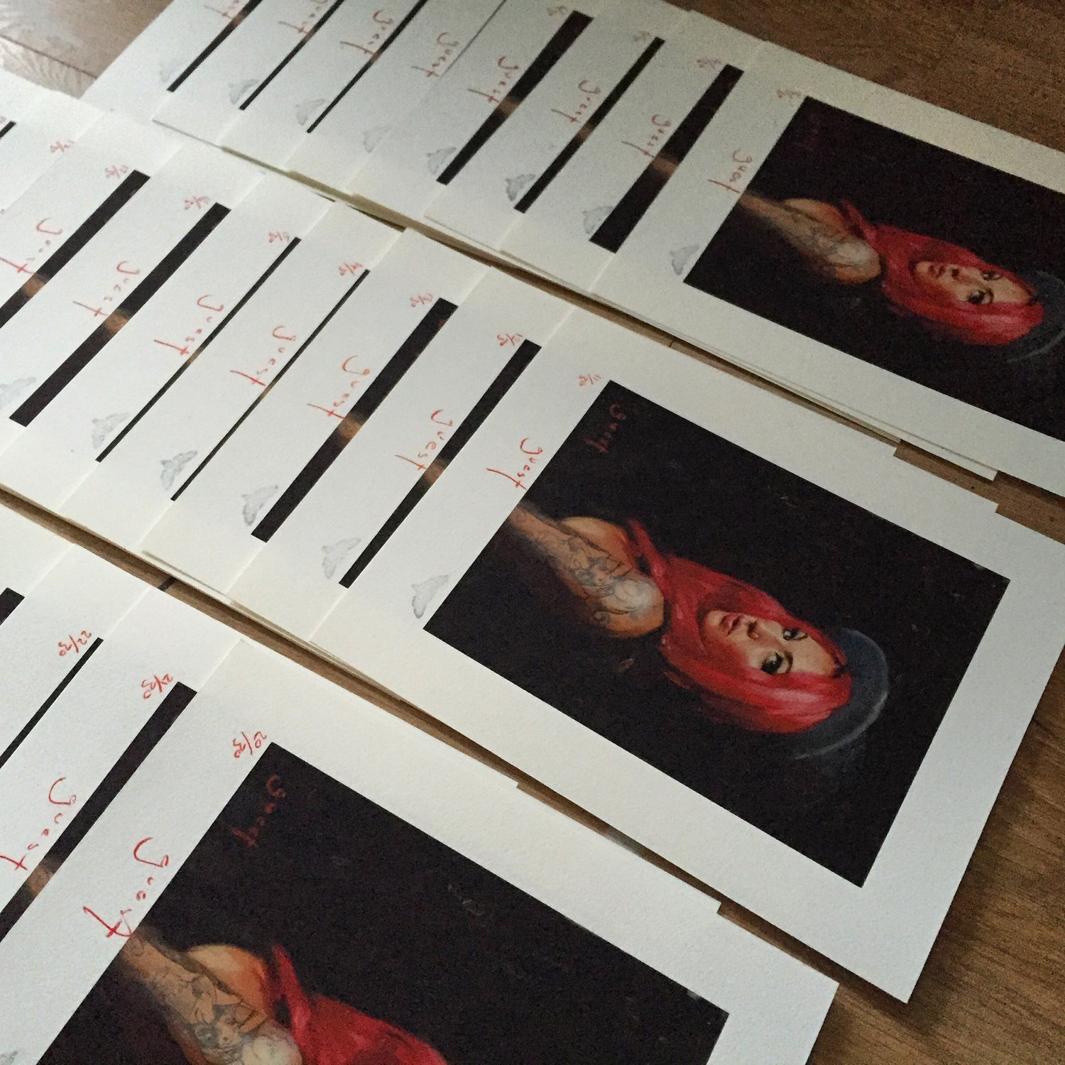 Image of Limited Edition 'Cervena, After the Girl with a Pearl Earring' Print