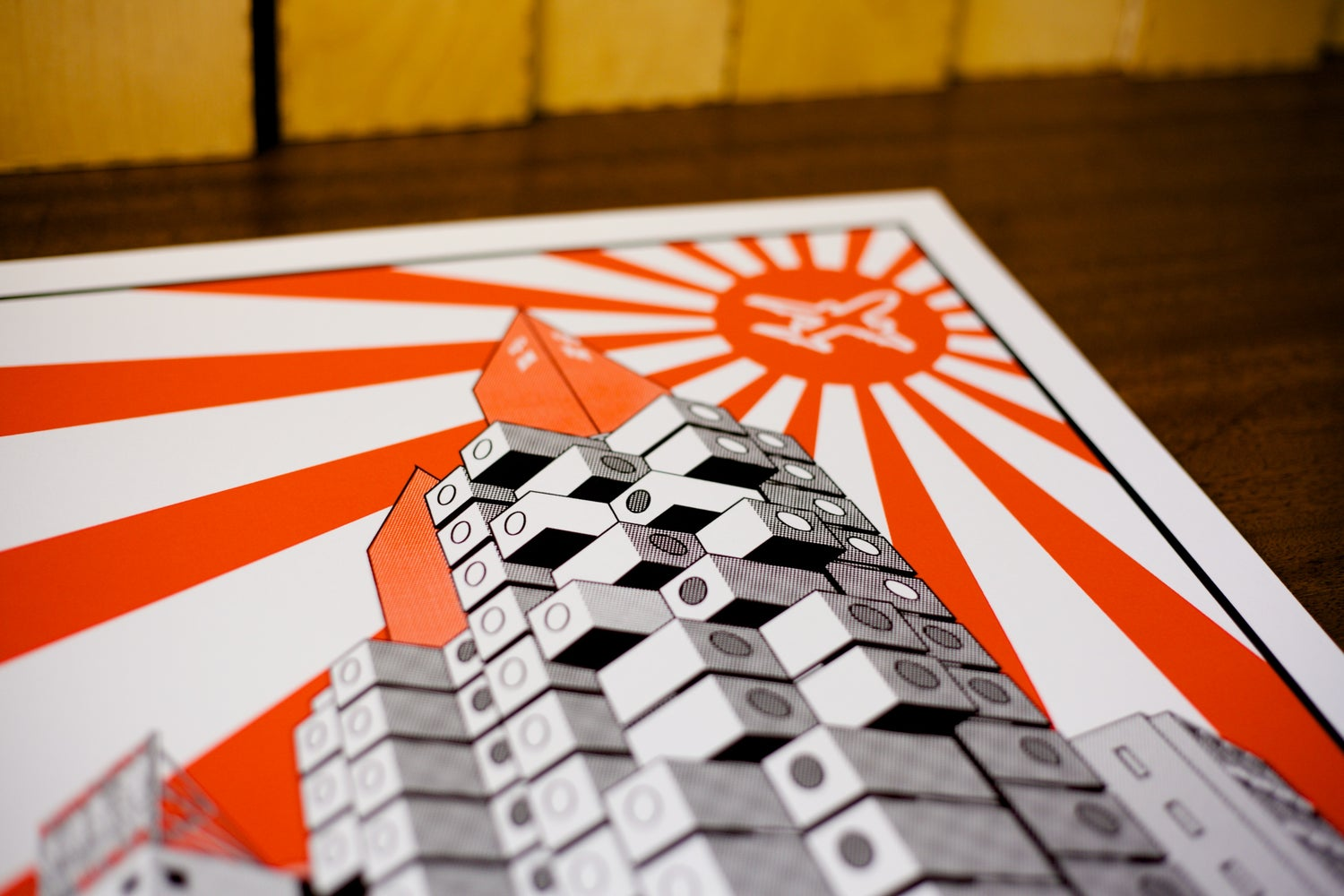 Image of Nakagin Capsule Tower screen print