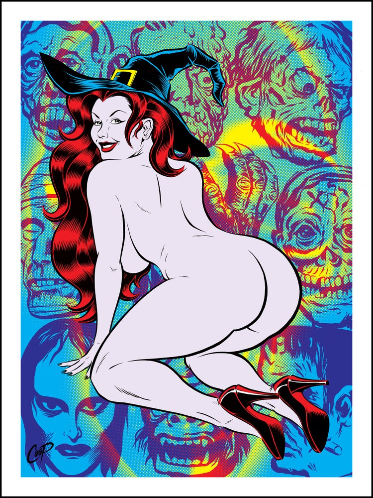 Image of HALLOWEEN WITCH silkscreen print
