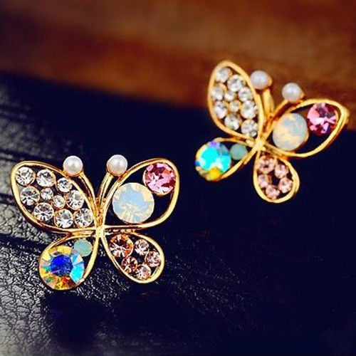 Image of Butterfly Ear Stud Earrings