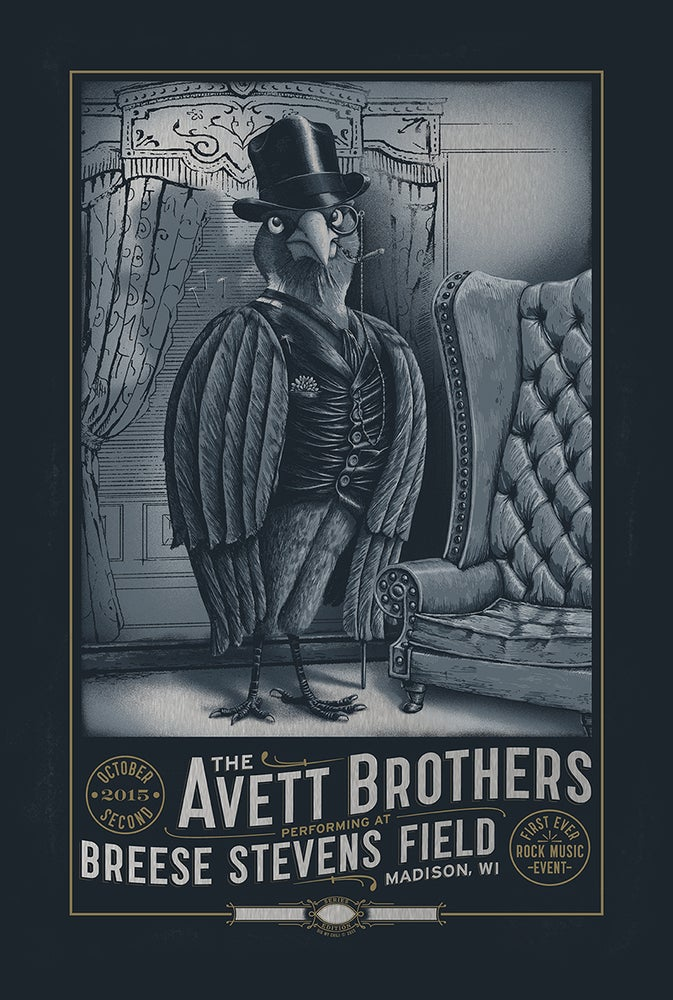 Image of The Avett Brothers Madison, WI. 2015 VARIANT