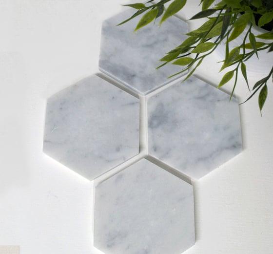 Image of Plain Marble Coasters