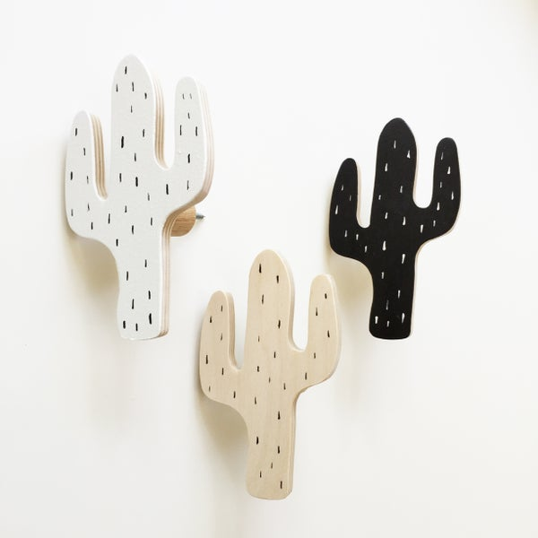 Image of That's Mine - Cactus Timber Wall Hooks (assorted colours)